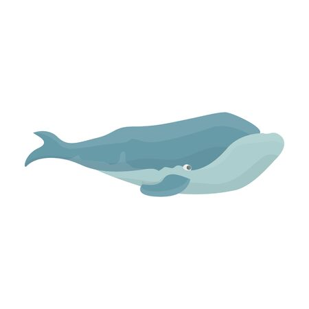 Whale right vector icon.Cartoon vector icon isolated on white background whale right.