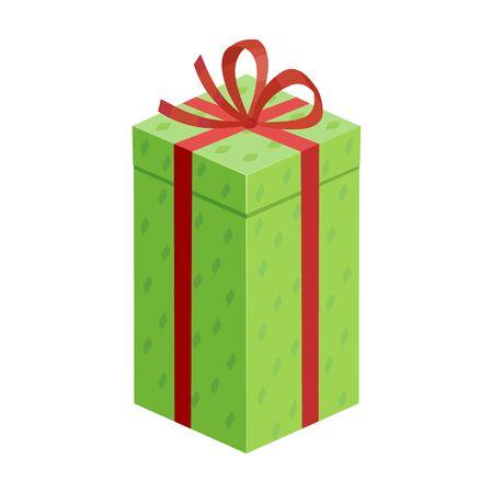 Present box vector icon.Cartoon vector icon isolated on white background present box. Illustration
