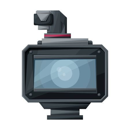 Video camera vector icon.Cartoon vector icon isolated on white background video camera. Illustration