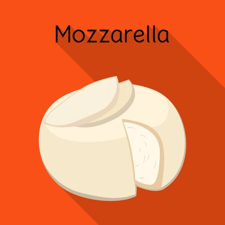 Isolated object of cheese and mozzarella logo. Graphic of cheese and piece vector icon for stock.