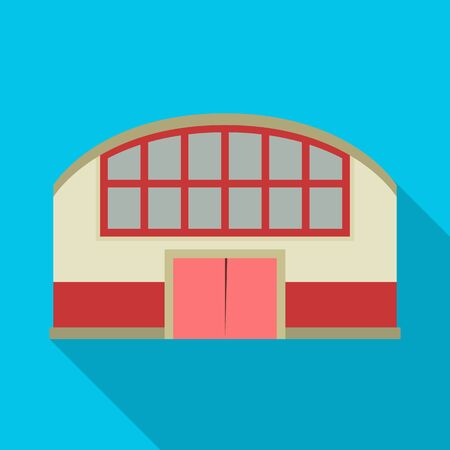 Vector design of shop and awning symbol. Graphic of shop and hangar stock vector illustration.