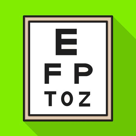 Isolated object of text and optical sign. Graphic of text and eyesight stock vector illustration. Illustration