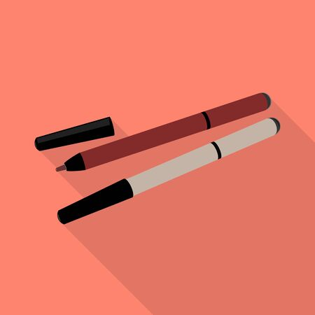 Vector design of eyeliner and contour icon. Graphic of eyeliner and pencil stock symbol for web. Illusztráció