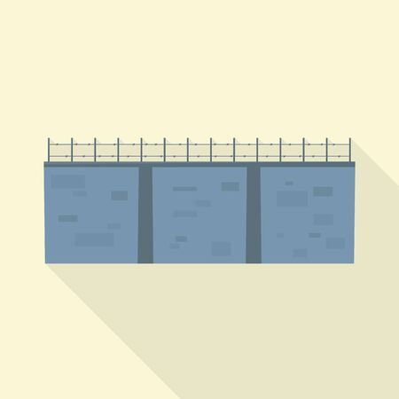 Vector illustration of wall and border sign. Web element of wall and fence stock symbol for web.