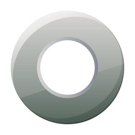 Fastener head vector icon.Cartoon vector logo isolated on white background fastener head.
