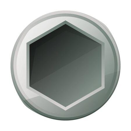 Rivet nut vector icon.Cartoon vector logo isolated on white background rivet nut.