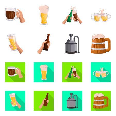 Conception vectorielle du logo bar et oktoberfest. icône de vecteur de barre et de pinte pour le stock.