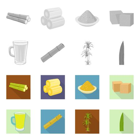 Vector design of production and farm icon. Collection of production and agriculture stock vector illustration.