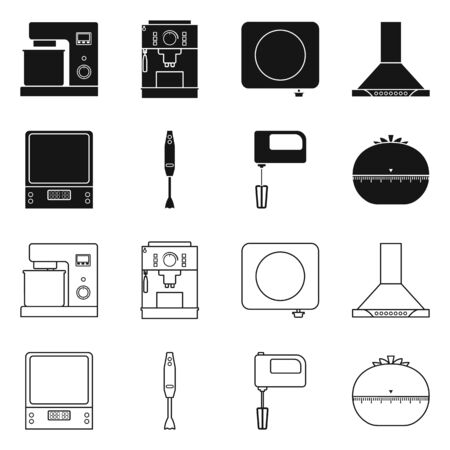 Isolated object of tool and equipment icon. Set of tool and domestic stock symbol for web. Çizim