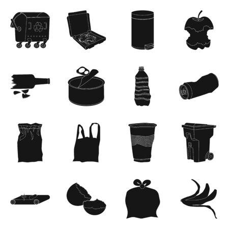 Vector design of refuse and junk icon. Set of refuse and waste stock symbol for web. Foto de archivo - 134064402