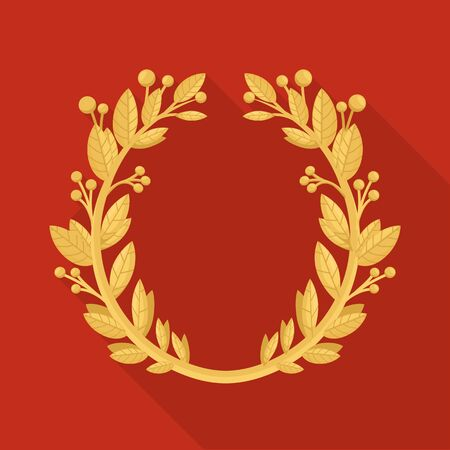 Isolated object of wreath and laurel logo. Graphic of wreath and crown stock symbol for web.