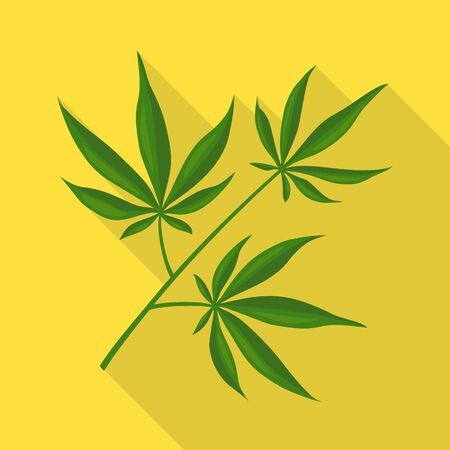 Vector design of marijuana and leaf symbol. Web element of marijuana and vegetation vector icon for stock. 矢量图像