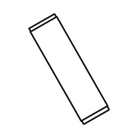 Isolated object of chewing and stick symbol. Web element of chewing and cold vector icon for stock.