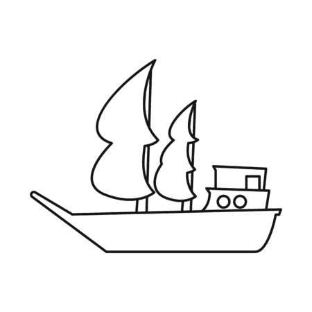 Vector illustration of ship and old symbol. Graphic of ship and boat vector icon for stock. Stock Illustratie