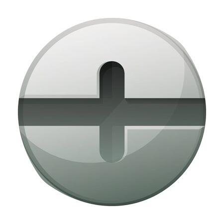 Icône de vecteur de boulon de rivet. Icône de vecteur de dessin animé isolé sur fond blanc boulon de rivet.