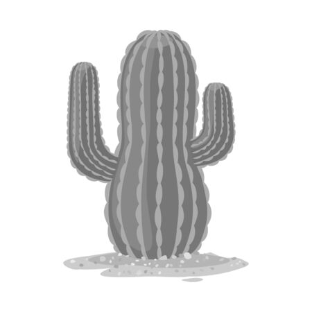 Vector design of cactus and south logo. Web element of cactus and america stock vector illustration.