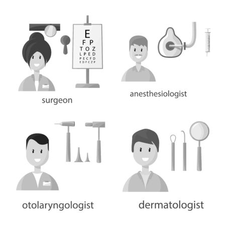Isolated object of hospital and healthcare icon. Set of hospital and medical stock vector illustration.