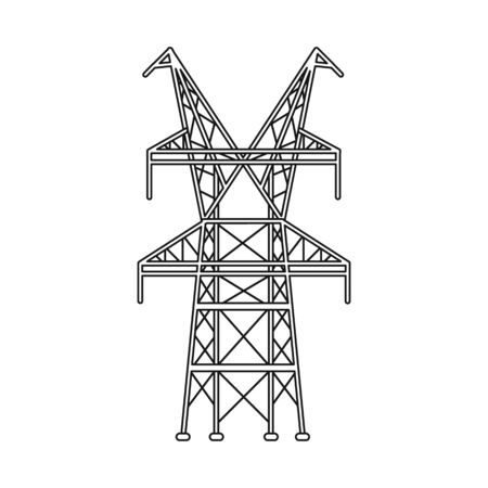 Vector design of electrical and station icon. Web element of electrical and pillar stock vector illustration.
