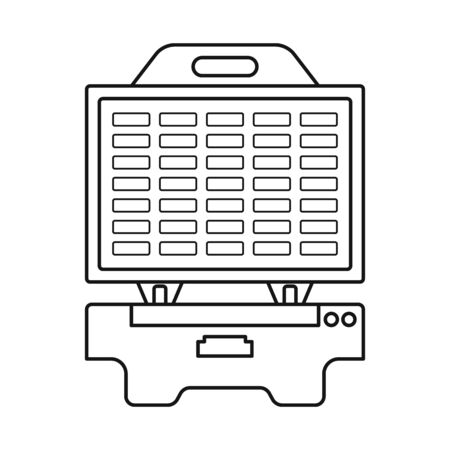 Vector design of machine and waffle logo. Web element of machine and tool vector icon for stock.