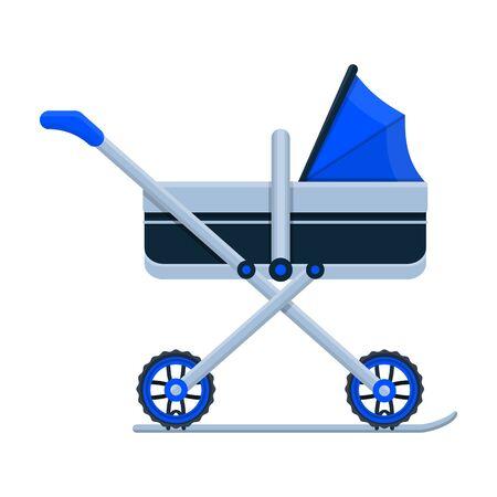 Stroller vector icon.Cartoon vector icon isolated on white background stroller. Foto de archivo - 133997147