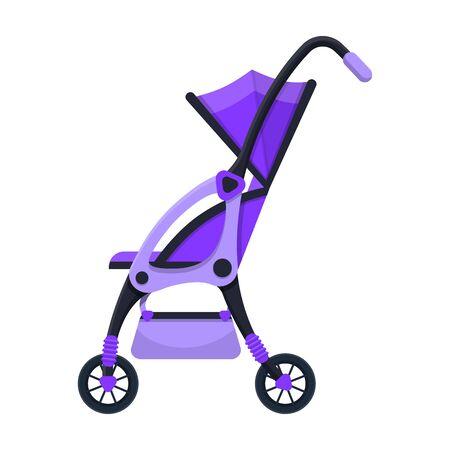 Stroller vector icon.Cartoon vector icon isolated on white background stroller. Foto de archivo - 133997157