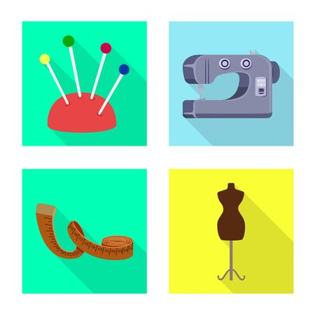 Vector design of craft and handcraft symbol. Collection of craft and industry stock symbol for web. Illustration