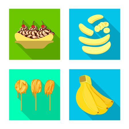 Vector design of natural and vegetarian icon. Collection of natural and eating stock vector illustration. 向量圖像