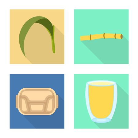 Vector design of farm and agriculture sign. Set of farm and sweet vector icon for stock.
