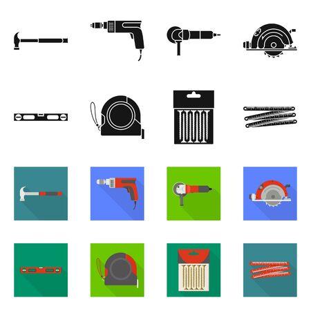 Vector illustration of household and repair icon. Collection of household and overhaul stock symbol for web.