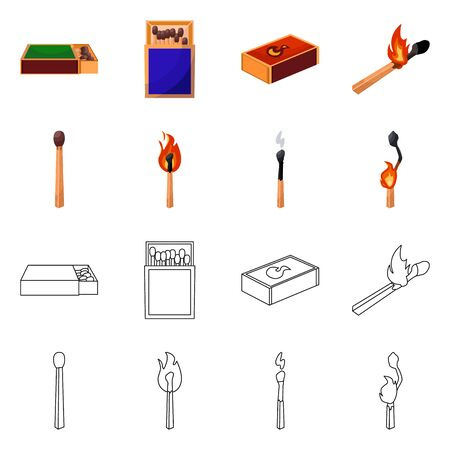 Isolated object of and icon. Collection of and stock vector illustration.