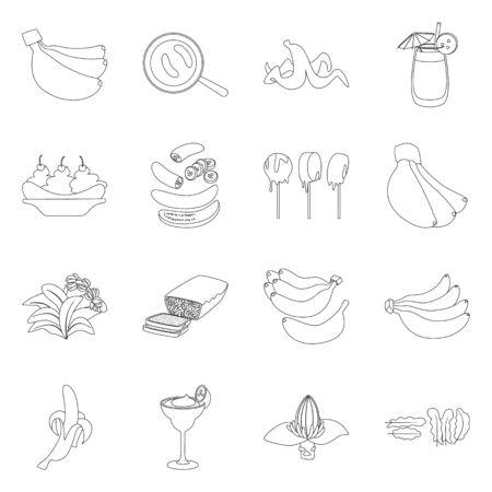 Vector illustration of organic and potassium icon. Collection of organic and diet vector icon for stock. Foto de archivo - 134456816