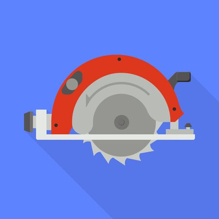 Vector design of saw and cutter icon. Web element of saw and blade stock vector illustration.