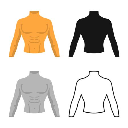 Vector design of dummy and torso . Web element of dummy and male vector icon for stock. Banque d'images - 134207357