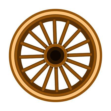 Icono de vector de rueda de carro Icono de vector de dibujos animados aislado sobre fondo blanco Rueda de carro.