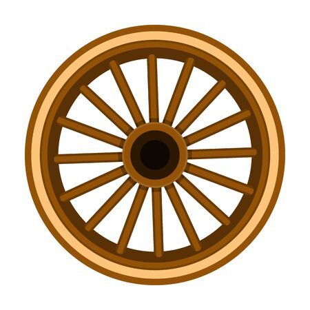 Wheel of cart vector icon.Cartoon vector icon isolated on white background wheel of cart.