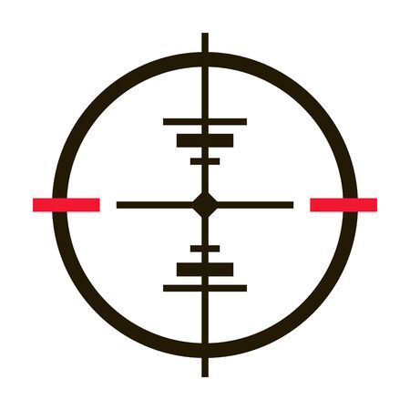 Sniper sight vector icon.Black vector icon isolated on white background sniper sight.