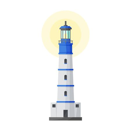 Lighthouse vector icon.Cartoon vector icon isolated on white background lighthouse.
