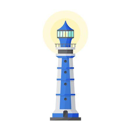 Beacon vector icon.Cartoon vector icon isolated on white background beacon.  イラスト・ベクター素材
