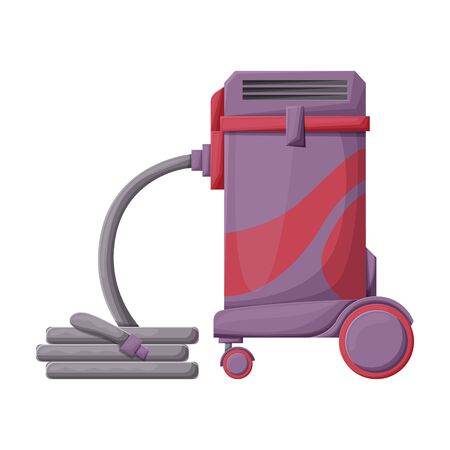 Vacuum cleaner vector icon.Cartoon vector icon isolated on white background vacuum cleaner . Foto de archivo - 134457018