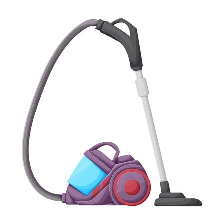 Vacuum cleaner vector icon.Cartoon vector icon isolated on white background vacuum cleaner .