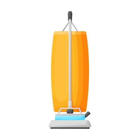 Vacuum cleaner vector icon.Cartoon vector icon isolated on white background vacuum cleaner . Illustration
