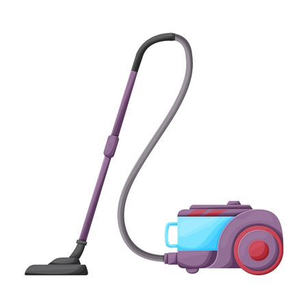 Vacuum cleaner vector icon.Cartoon vector icon isolated on white background vacuum cleaner . Çizim