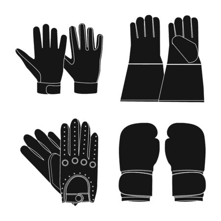 Isolated object of glove and winter. Collection of glove and equipment vector icon for stock. Archivio Fotografico - 134450930