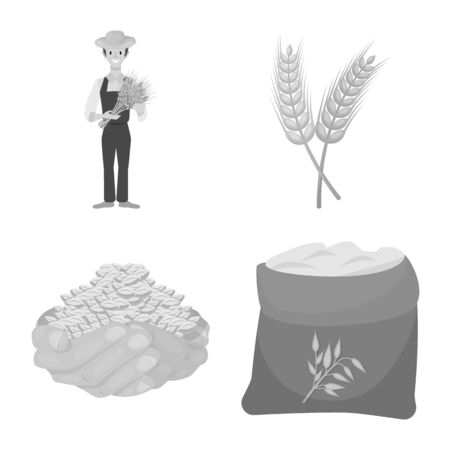 Isolated object of farm and arable sign. Set of farm and agriculture stock symbol for web.