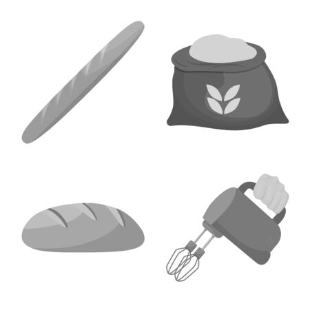 Isolated object of bakery and natural. Set of bakery and organic vector icon for stock. Ilustrace