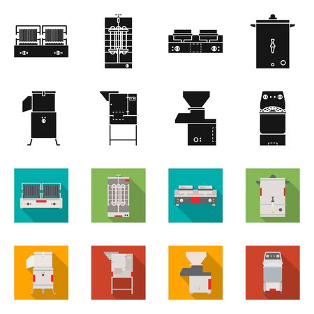 Isolated object of domestic and appliances. Set of domestic and furniture stock vector illustration.