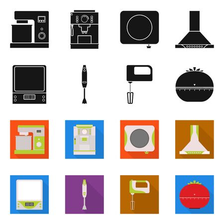 Vector illustration of tool and equipment sign. Collection of tool and domestic vector icon for stock.