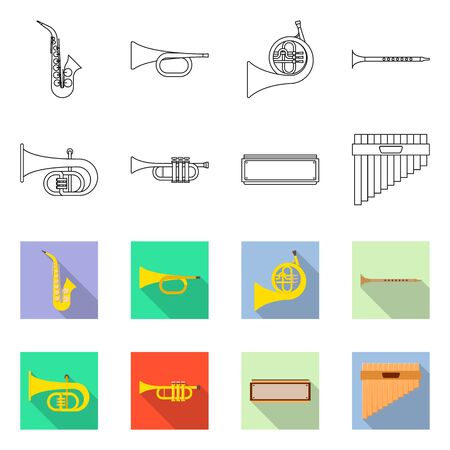 Vector illustration of concert and classical icon. Collection of concert and equipment stock vector illustration.