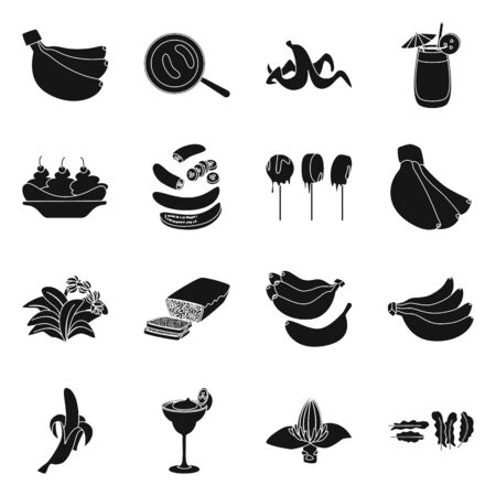 Vector design of vitamin and eating. Collection of vitamin and ripe vector icon for stock. Foto de archivo - 134452188