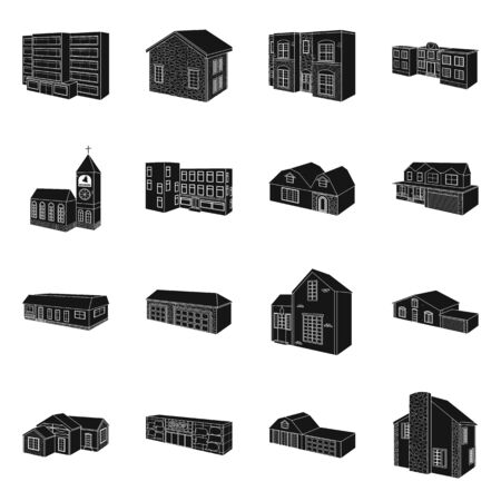 Vector illustration of renovation and infrastructure. Set of renovation and home vector icon for stock.